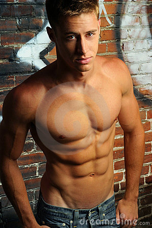 Shirtless Young Man