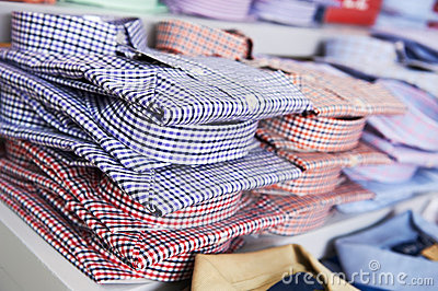 Shirts in a shop