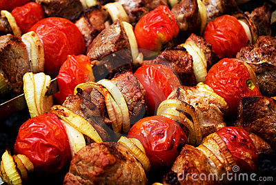 Shish kebab - barbecue