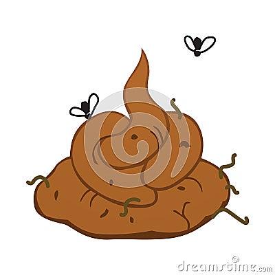 Shit poop cartoon illustration