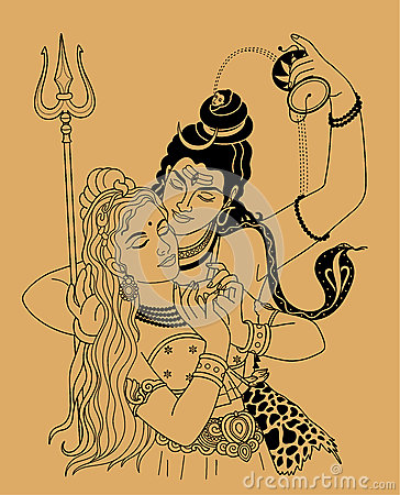 Free Shiva And Shakti Stock Image - 50791731