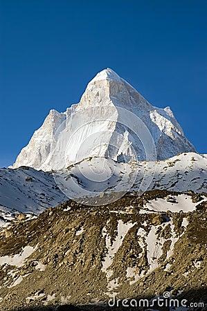 Shivling paek in Himalayas