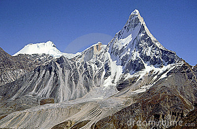 Shivling peak, Indian Himalaya