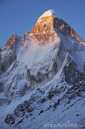 Shivling peak on sunrise
