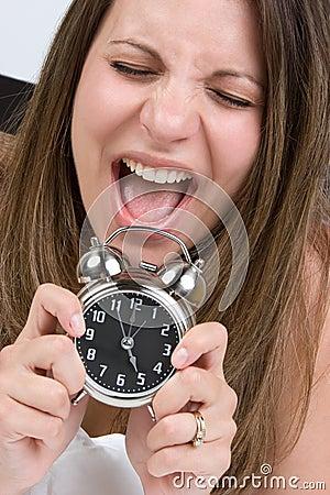 Shocked Alarm Woman