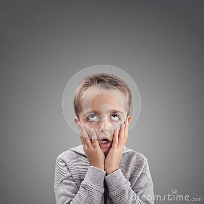 Free Shocked And Surprised Child Fed Up, Bored Or Showing Despair Stock Photography - 104407092