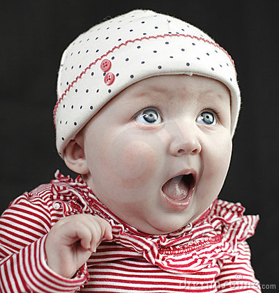 Shocked baby blue eyes