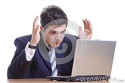 Shocked businessman