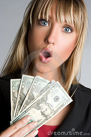 Shocked Money Woman