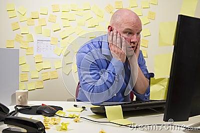 Shocked Office Worker