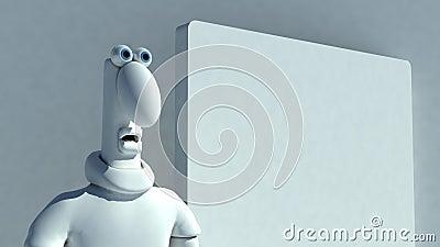 Shocked Plasticine man Plasticine