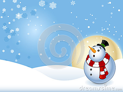 Shocked Snowman With Background