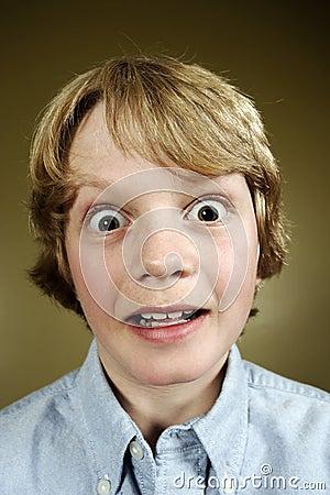 Shocked teenager
