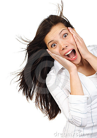 Free Shocked Woman Stock Photo - 10702710