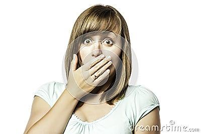 Shocked young girl