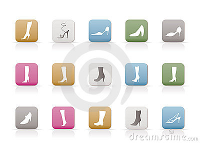 Shoe and boot icons
