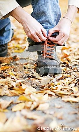 Shoe in fall