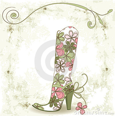 Shoe and flower.