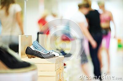 Shoe in footwear store