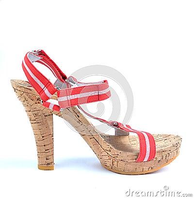 Shoe with high heel