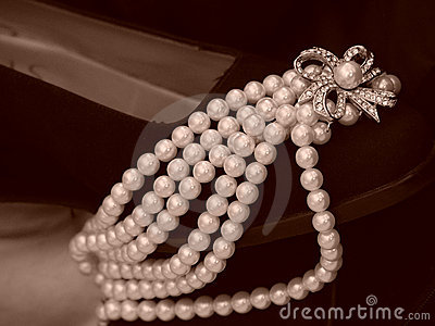 Shoe Laden With Pearls