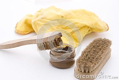 Shoe polish in brown