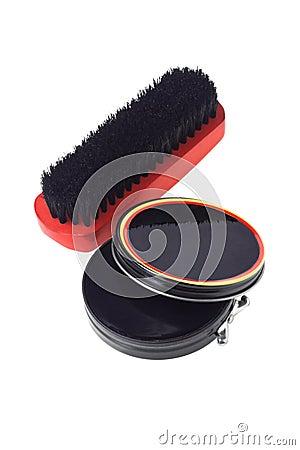 Shoe Polish and Brush
