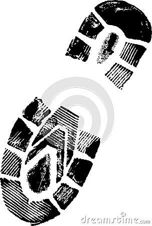 shoe print clipart. Running shoe print Innovation