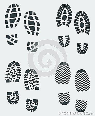Shoe Prints Vector 2