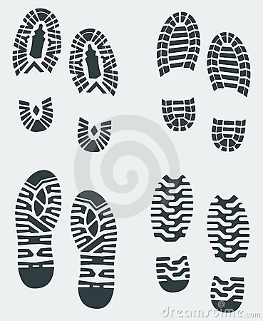 Shoe Prints Vector 3