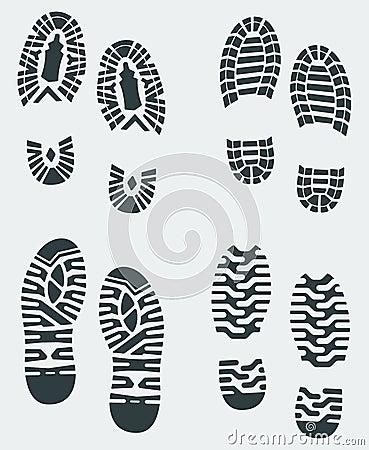 Shoe Prints Vector 3