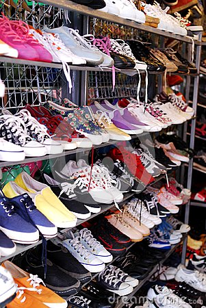 Free Shoe Shop In Market Stock Image - 103858781