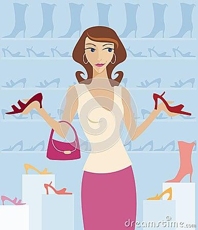 Free Shoe Shopping Stock Image - 818241