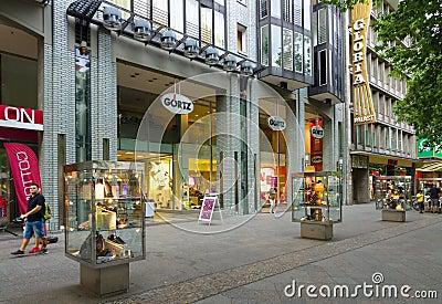 Shoe Store Goertz on Kurfuerstendamm Editorial Photography