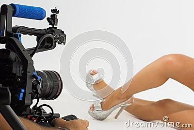 Shoe video shoot