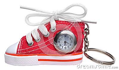 Shoe watch key chain