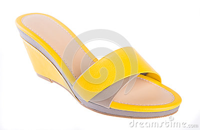 Shoe. woman sandal on a background