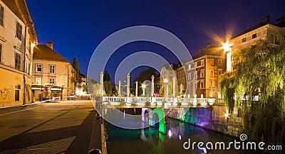 Shoemakers' bridge in Ljubljana