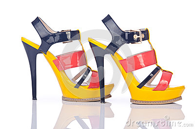 Shoes - fashion concept on white