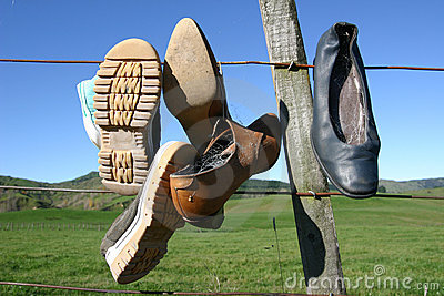 Shoes On Fence