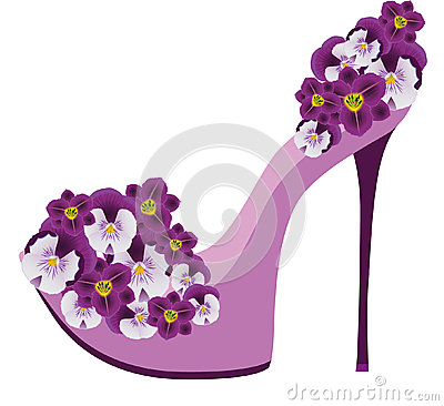 Shoes from flowers.