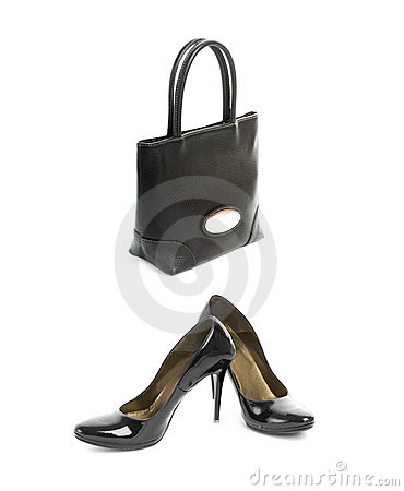 Shoes with handbag
