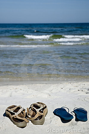 Free Shoes On The Beach Stock Photography - 3083872