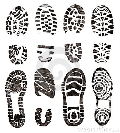 Shoes prints
