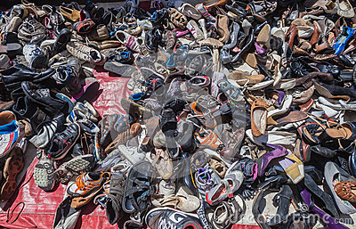Shoes Second Hand Vendor Editorial Photo