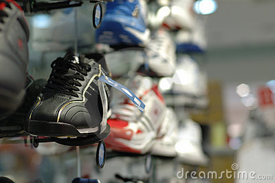 Shoes in shopping mall