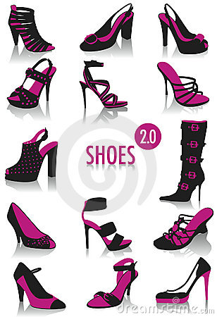 Free Shoes Silhouettes 2 Stock Photo - 10278390
