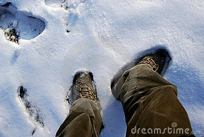 Shoes and snow