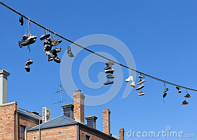 Shoes On Telephone Wire