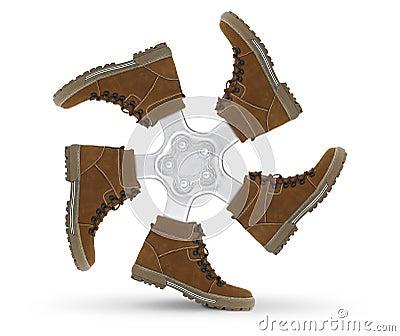 Shoes wheel